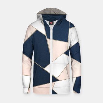 Thumbnail image of Navy Blue Blush White Gold Geometric Glam #1 #geo #decor #art Reißverschluss kapuzenpullover, Live Heroes
