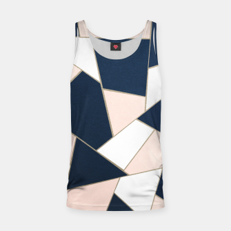Thumbnail image of Navy Blue Blush White Gold Geometric Glam #1 #geo #decor #art Muskelshirt , Live Heroes