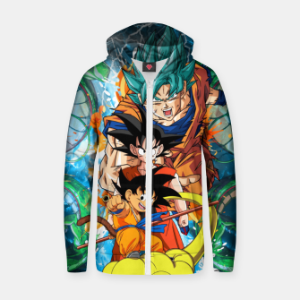 Goku now and then Zip up hoodie thumbnail image
