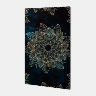 Thumbnail image of Modern night mandala Canvas, Live Heroes