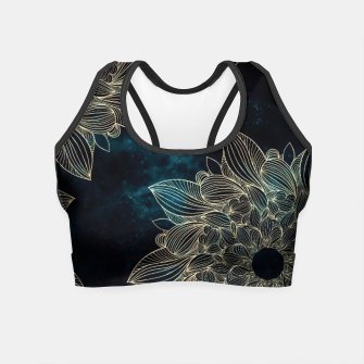 Miniaturka Modern night mandala Crop Top, Live Heroes