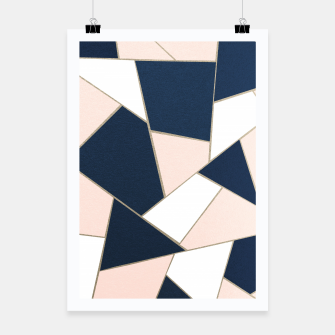 Thumbnail image of Navy Blue Blush White Gold Geometric Glam #1 #geo #decor #art Plakat, Live Heroes