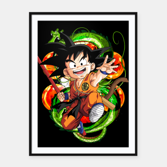 Thumbnail image of Kid Goku Framed poster, Live Heroes