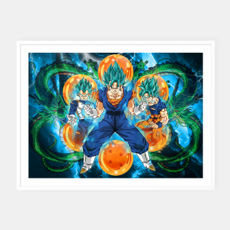 Thumbnail image of Vegeta and Goku turn Vegeto Framed poster, Live Heroes