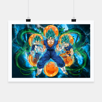 Thumbnail image of Vegeta and Goku turn Vegeto Poster, Live Heroes