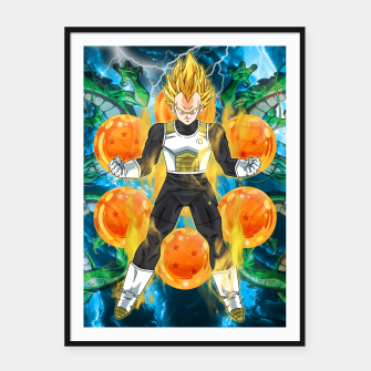 Thumbnail image of Vegeta Super Saiyan Framed poster, Live Heroes