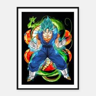 Thumbnail image of Vegeto Blue Framed poster, Live Heroes