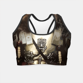 Thumbnail image of Bear in armor Crop Top, Live Heroes