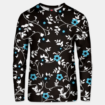 Thumbnail image of Blue flowers Unisex sweater, Live Heroes