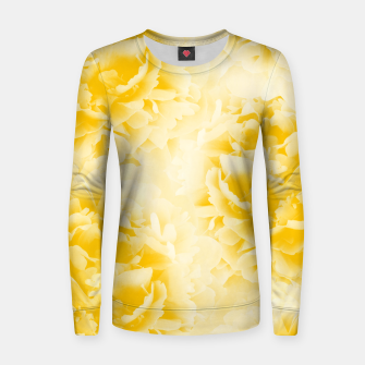 Thumbnail image of Yellow Peonies Dream #1 #floral #decor #art  Frauen sweatshirt, Live Heroes