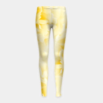 Thumbnail image of Yellow Peonies Dream #1 #floral #decor #art  Kinder-Leggins, Live Heroes