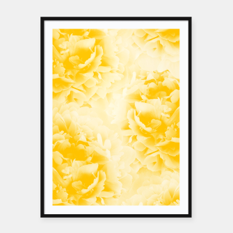 Thumbnail image of Yellow Peonies Dream #1 #floral #decor #art  Plakat mit rahmen, Live Heroes