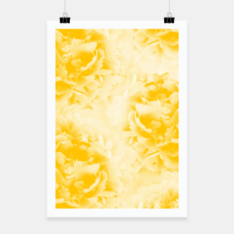 Thumbnail image of Yellow Peonies Dream #1 #floral #decor #art  Plakat, Live Heroes