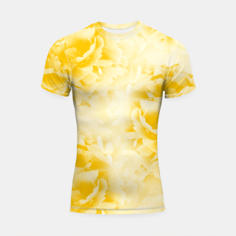 Thumbnail image of Yellow Peonies Dream #1 #floral #decor #art  Shortsleeve rashguard, Live Heroes