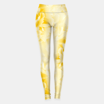 Thumbnail image of Yellow Peonies Dream #1 #floral #decor #art  Leggings, Live Heroes