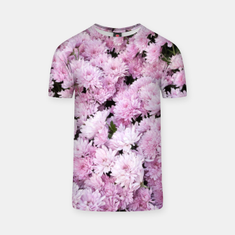 Thumbnail image of A Sea of Light Pink Chrysanthemums #2 #floral #art T-Shirt, Live Heroes