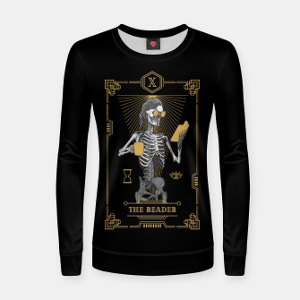 Thumbnail image of The Reader X Tarot Card Women sweater, Live Heroes