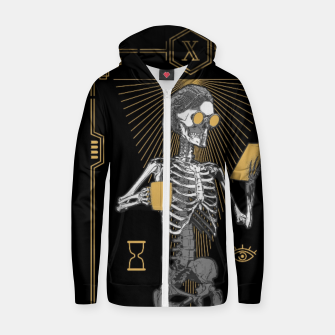 Thumbnail image of The Reader X Tarot Card Zip up hoodie, Live Heroes