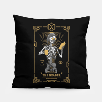Thumbnail image of The Reader X Tarot Card Pillow, Live Heroes