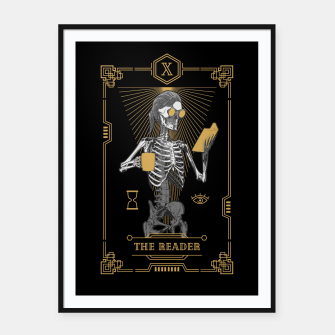 Thumbnail image of The Reader X Tarot Card Framed poster, Live Heroes