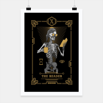 Thumbnail image of The Reader X Tarot Card Poster, Live Heroes