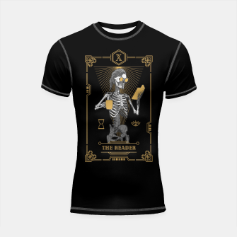 Thumbnail image of The Reader X Tarot Card Shortsleeve rashguard, Live Heroes