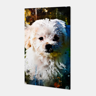 Thumbnail image of gxp maltese dog splatter watercolor Canvas, Live Heroes