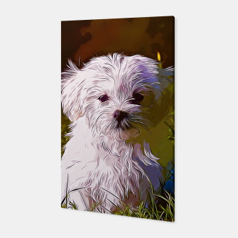 Thumbnail image of gxp maltese dog vector art Canvas, Live Heroes