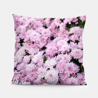 Thumbnail image of A Sea of Light Pink Chrysanthemums #2 #floral #art Kissen, Live Heroes