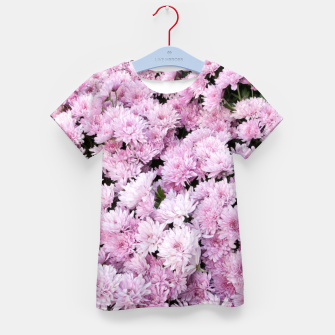 Thumbnail image of A Sea of Light Pink Chrysanthemums #2 #floral #art T-Shirt für kinder, Live Heroes