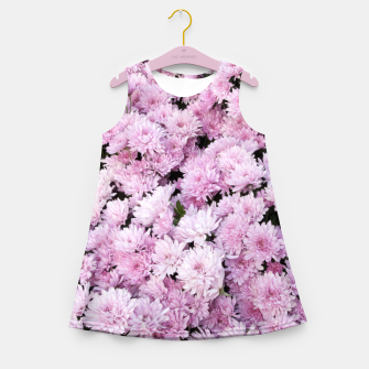 Thumbnail image of A Sea of Light Pink Chrysanthemums #2 #floral #art Mädchen-Sommerkleid, Live Heroes