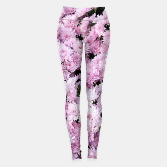 Thumbnail image of A Sea of Light Pink Chrysanthemums #2 #floral #art Leggings, Live Heroes