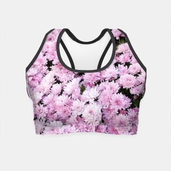 Thumbnail image of A Sea of Light Pink Chrysanthemums #2 #floral #art Crop Top, Live Heroes