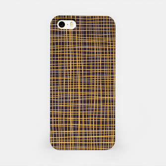 Thumbnail image of Purple and Gold V Thread pattern iPhone Case, Live Heroes