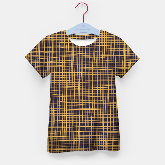Thumbnail image of Purple and Gold V Thread pattern Kid's t-shirt, Live Heroes