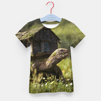 Thumbnail image of Turtle House Kid's t-shirt, Live Heroes