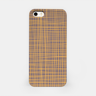 Thumbnail image of Purple and Gold VI Thread pattern iPhone Case, Live Heroes