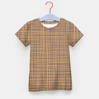 Thumbnail image of Purple and Gold VI Thread pattern Kid's t-shirt, Live Heroes