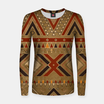 Aztec Ethnic Pattern Art Women sweater obraz miniatury