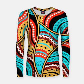 Ethnic Tribal Pattern Art  Women sweater obraz miniatury