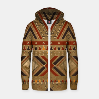 Aztec Ethnic Pattern Art Zip up hoodie obraz miniatury