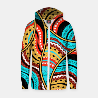 Ethnic Tribal Pattern Art  Zip up hoodie obraz miniatury