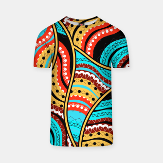 Ethnic Tribal Pattern Art  T-shirt obraz miniatury