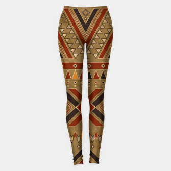 Aztec Ethnic Pattern Art Leggings obraz miniatury
