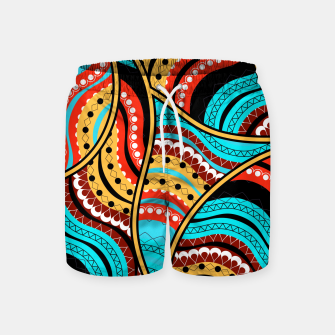 Thumbnail image of Ethnic Tribal Pattern Art  Swim Shorts, Live Heroes