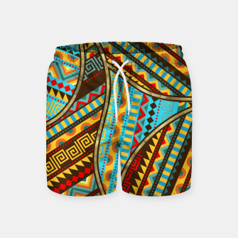 Miniaturka Ethnic Tribal Pattern Art  Swim Shorts, Live Heroes