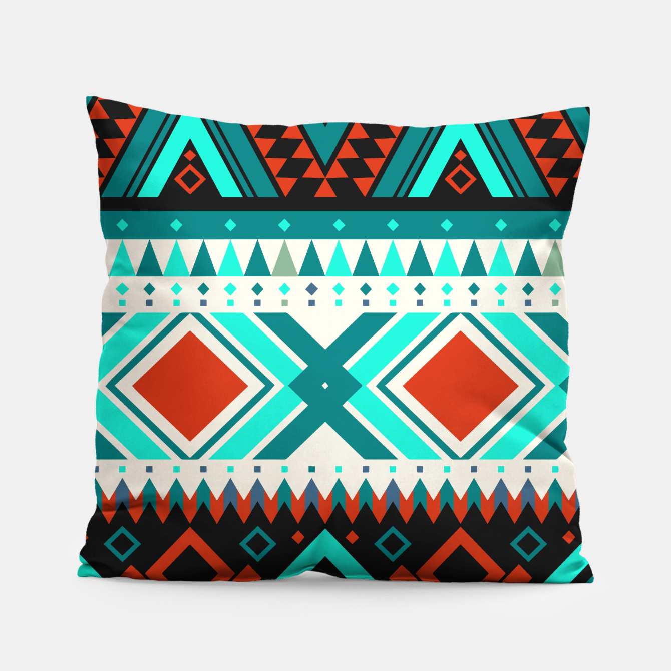 Image of Aztec Ethnic Pattern Art Pillow - Live Heroes