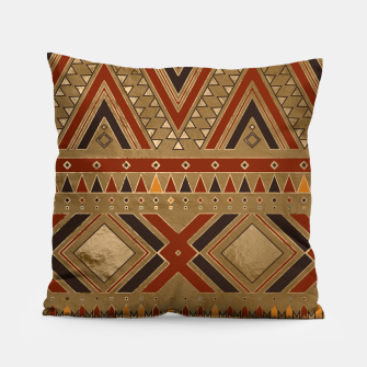 Aztec Ethnic Pattern Art Pillow obraz miniatury