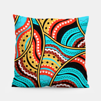 Ethnic Tribal Pattern Art  Pillow obraz miniatury