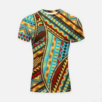 Thumbnail image of Ethnic Tribal Pattern Art  Shortsleeve rashguard, Live Heroes